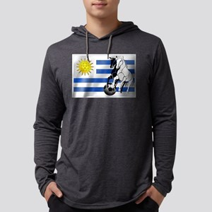 Uruguay Soccer Flag Mens Hooded Shirt