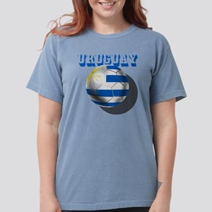 Uruguay Soccer Ball Womens Comfort Colors Shirt