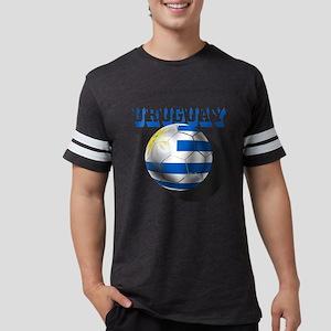 Uruguay Soccer Ball Mens Football Shirt