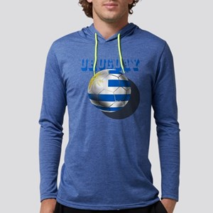 Uruguay Soccer Ball Mens Hooded Shirt