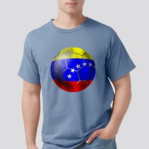 Venezuela Soccer Ball Mens Comfort Colors Shirt