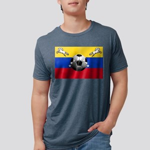 Venezuela Soccer Flag Mens Tri-blend T-Shirt