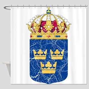 Sweden Lesser Coat Of Arms Shower Curtain