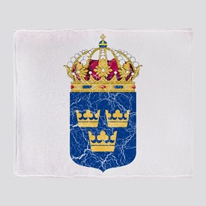 Sweden Lesser Coat Of Arms Throw Blanket