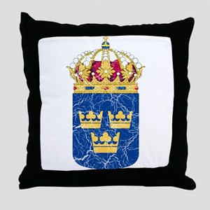 Sweden Lesser Coat Of Arms Throw Pillow