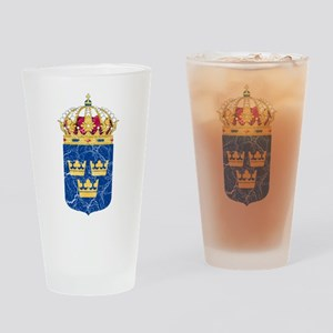 Sweden Lesser Coat Of Arms Drinking Glass
