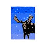 Winter Moose 5'x7'Area Rug