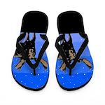 Winter Moose Flip Flops