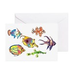 Six Cute Fish Greeting Cards (Pk of 20)