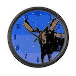 Winter Moose Large Wall Clock
