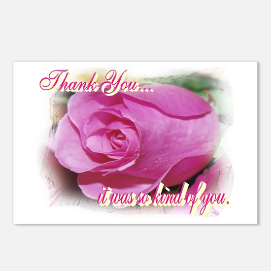 Rose Bud Thank You Postcards (Package of 8)