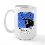Winter Moose 15 oz Ceramic Large Mug