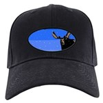 Winter Moose Black Cap with Patch