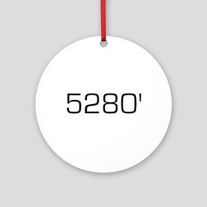 5,280 feet Ornament (Round)