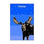Winter Moose Mini Poster Print