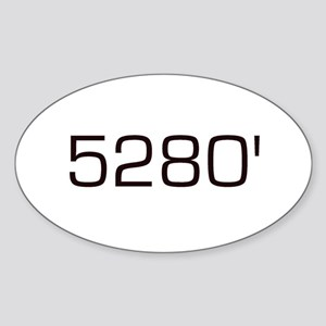5,280 feet Oval Sticker