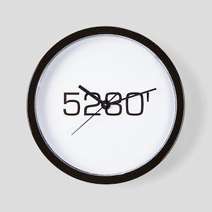 5,280 feet Wall Clock