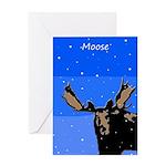 Winter Moose Greeting Card