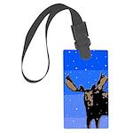 Winter Moose Large Luggage Tag