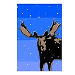 Winter Moose Postcards (Package of 8)