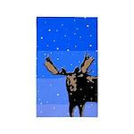 Winter Moose Area Rug