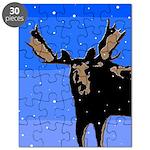 Winter Moose Puzzle