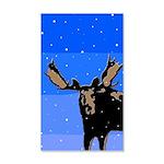 Winter Moose 35x21 Wall Decal