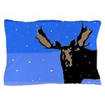 Winter Moose Pillow Case