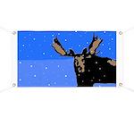 Winter Moose Banner