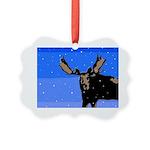 Winter Moose Picture Ornament