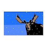 Winter Moose 20x12 Wall Decal
