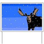 Winter Moose Yard Sign