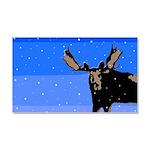 Winter Moose Car Magnet 20 x 12