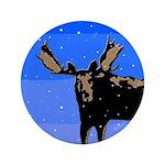 Winter Moose Button