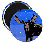 Winter Moose Magnet