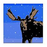 Winter Moose Tile Coaster