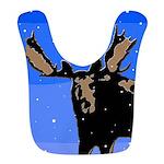Winter Moose Polyester Baby Bib