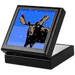 Winter Moose Keepsake Box