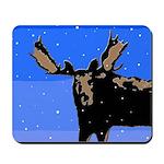 Winter Moose Mousepad