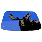 Winter Moose Bathmat