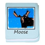 Winter Moose baby blanket