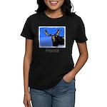 Winter Moose Women's Dark T-Shirt