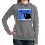 Winter Moose Women's Hooded Sweatshirt
