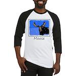 Winter Moose Baseball Tee