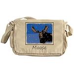 Winter Moose Messenger Bag