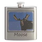 Winter Moose Flask