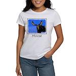 Winter Moose Women's Classic White T-Shirt