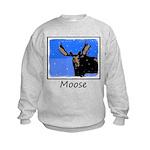 Winter Moose Kids Sweatshirt