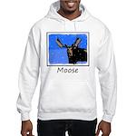 Winter Moose Hooded Sweatshirt