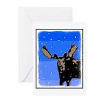 Winter Moose Greeting Cards (Pk of 10)